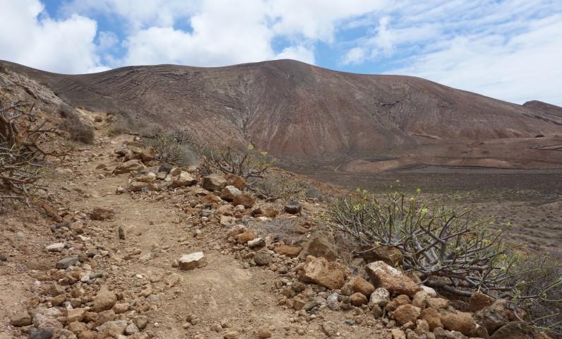 Lanzarote, výstup na Montaña Blanca
