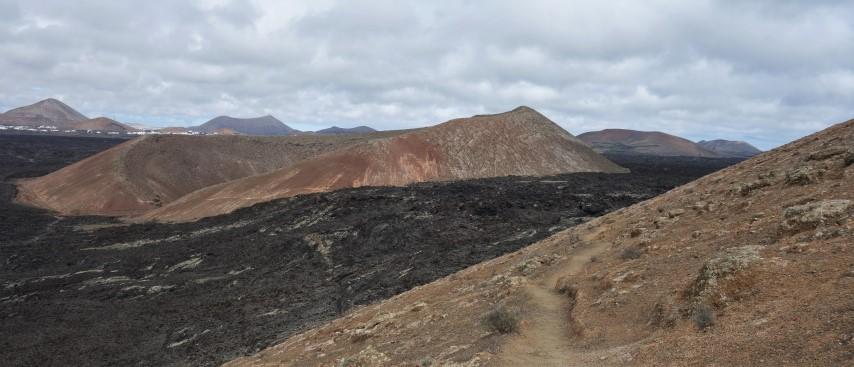 Lanzarote, Montaña Caldereta a Montaña Blanca