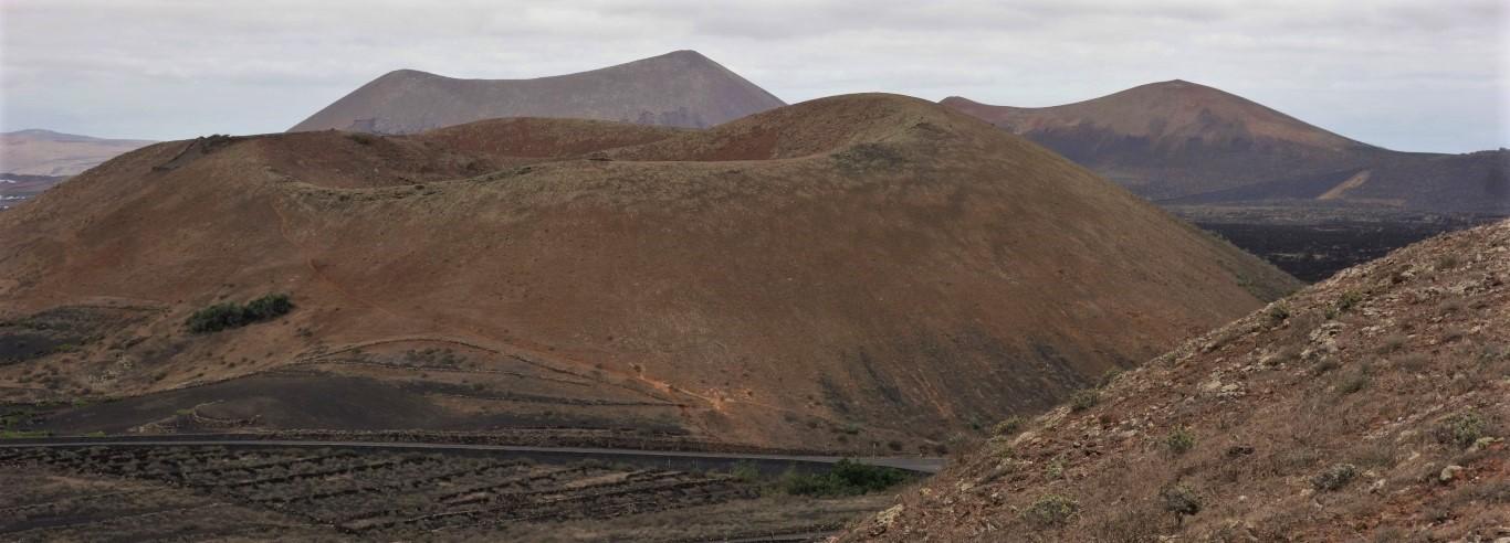Lanzarote, vyhlídka z Montaña del Cortijo