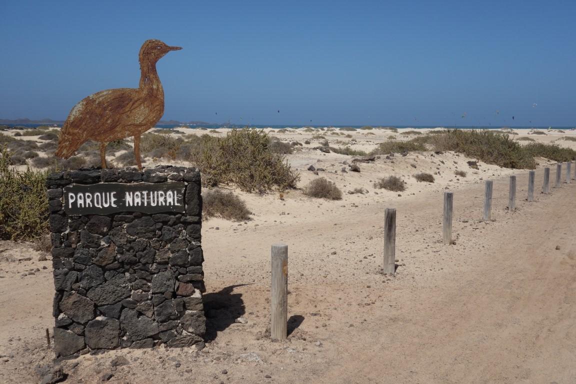 Příchod do Parque Natural de Corralejo