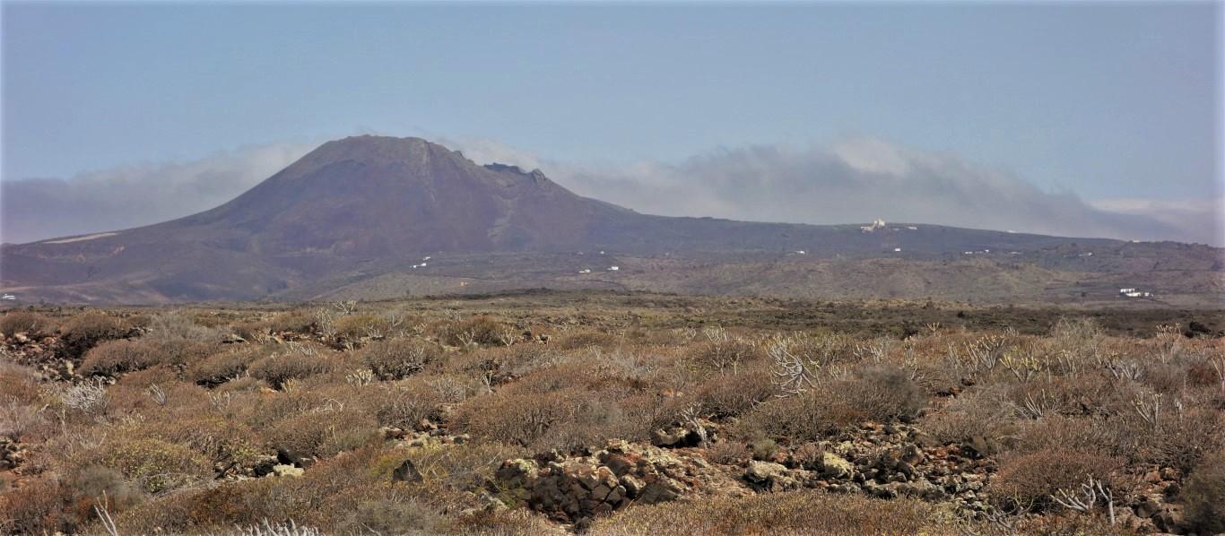 Lávové pole vzniklé při výbuchu Monte Corona