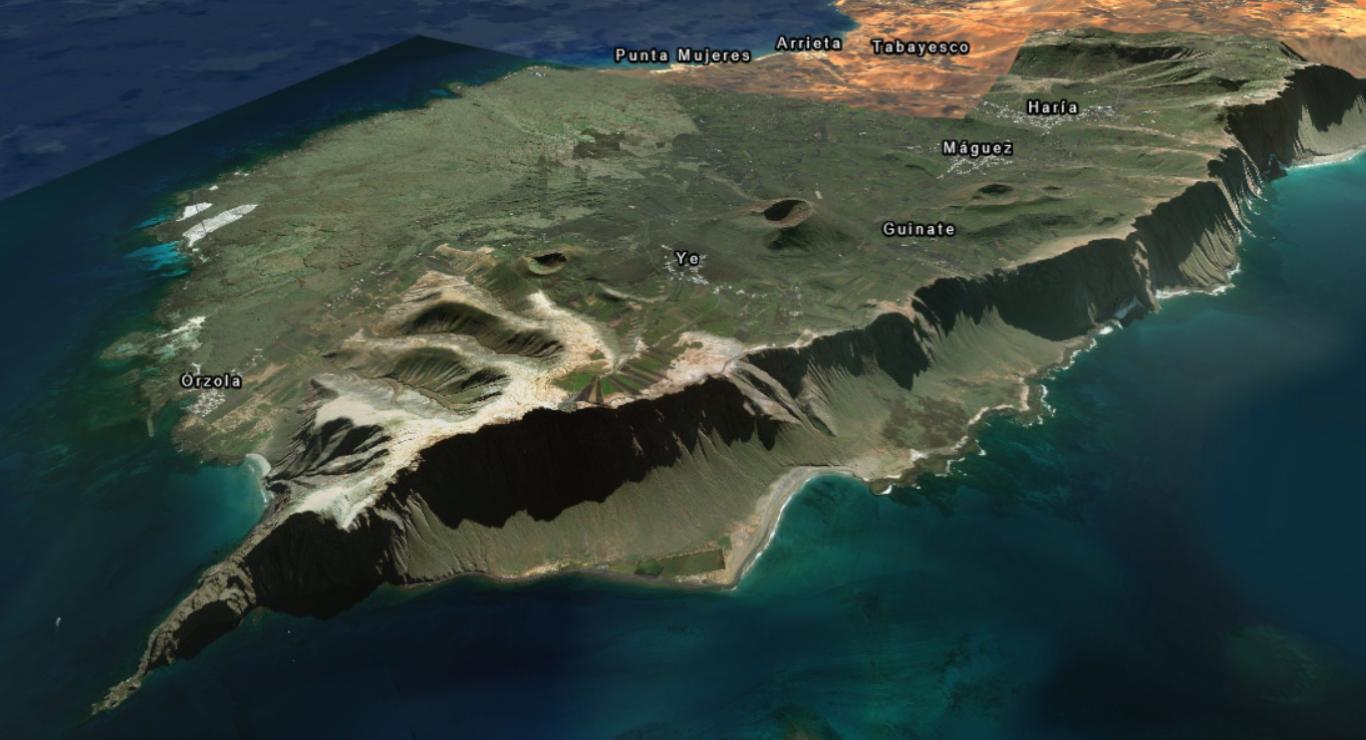 Pohled na ostrov od severozápadu