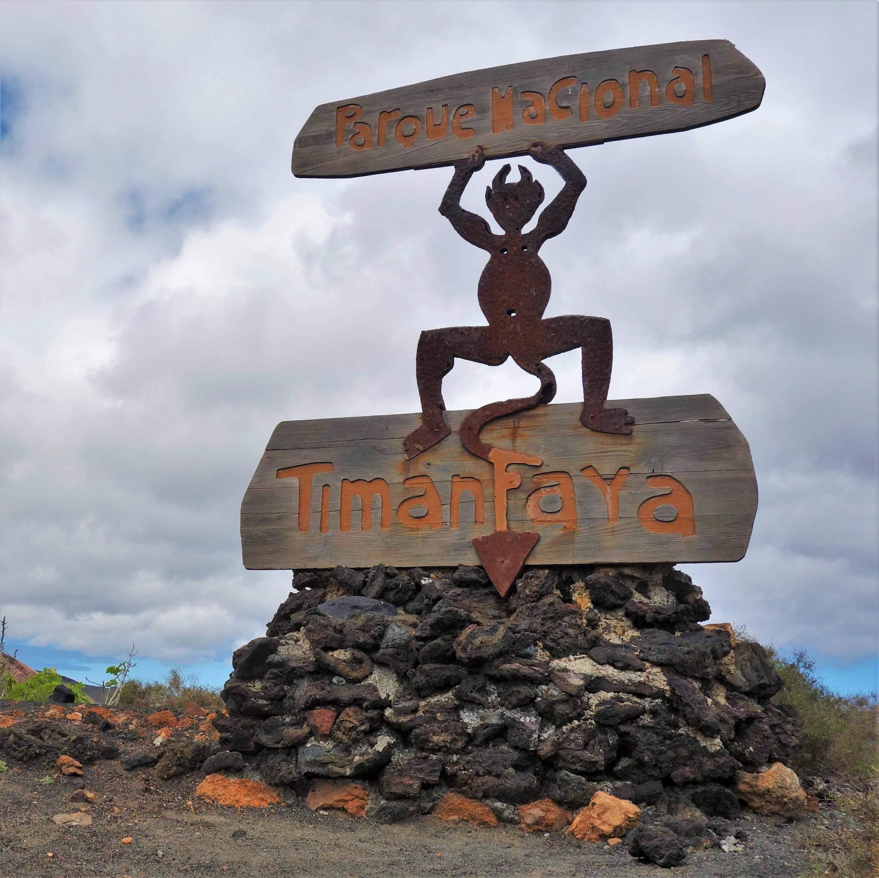 Kanárské ostrovy autostopem, národní park Timanfaya, Lanzarote