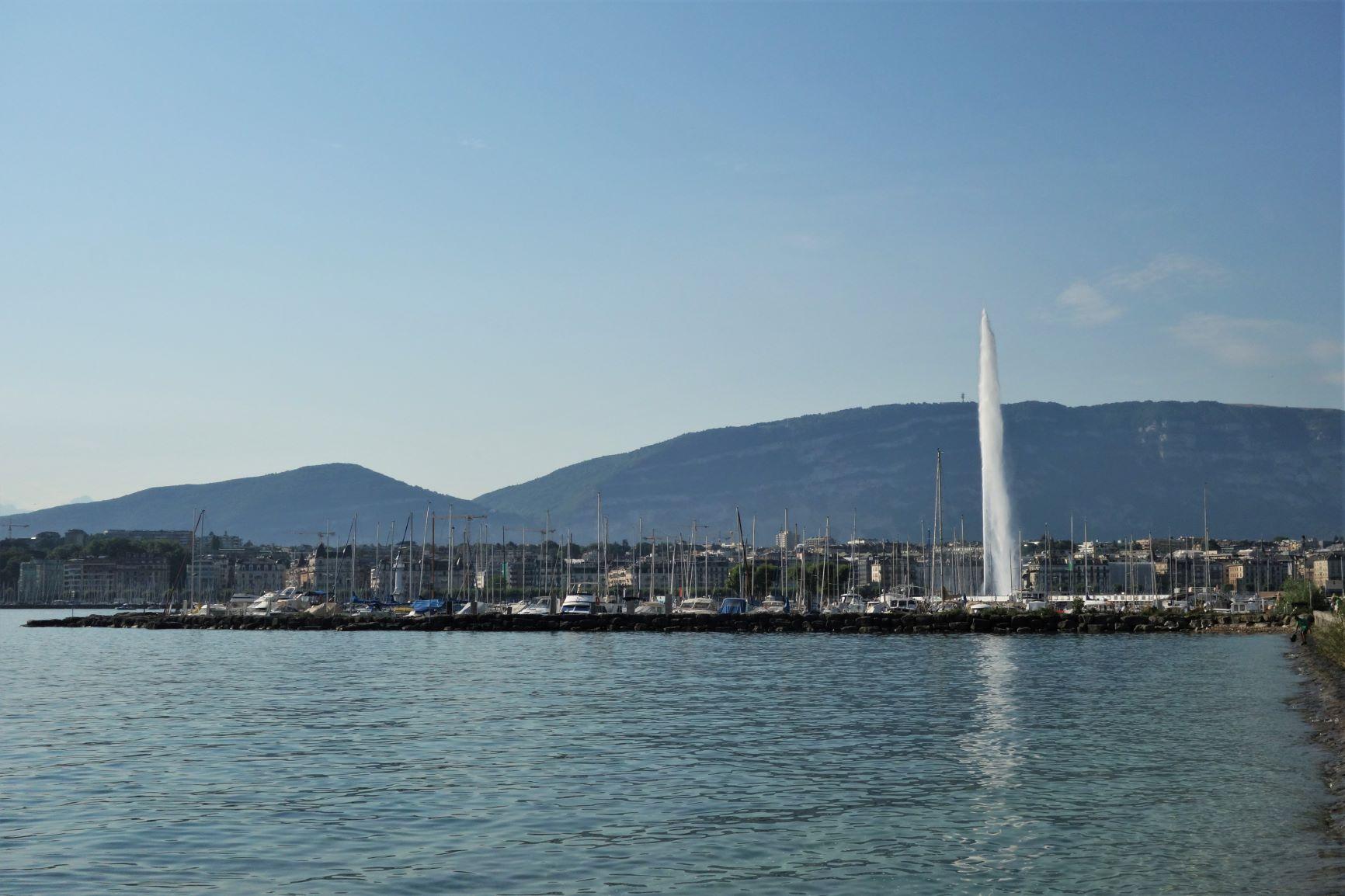 Dominanta Ženevy - gejzír