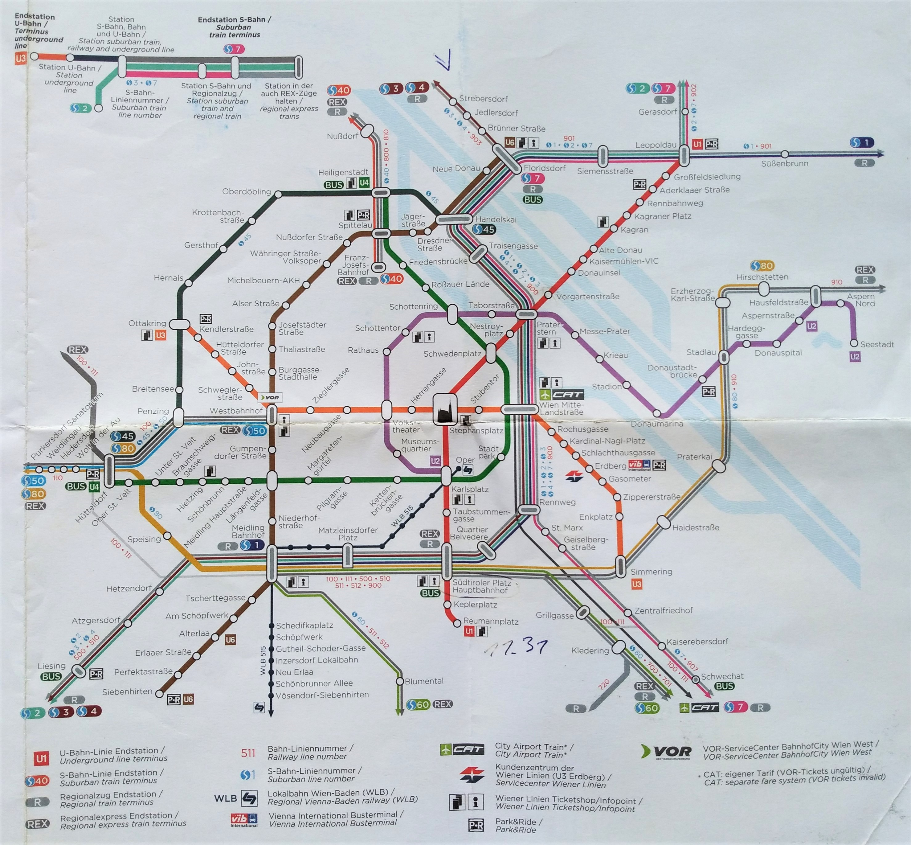 Železniční síť ve Vídni