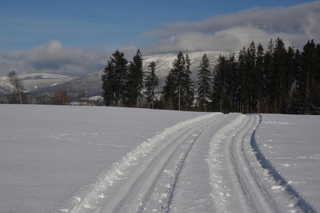 Běžkařské trasy v Krkonoších, stopy mezi Čermnou a Rudníkem
